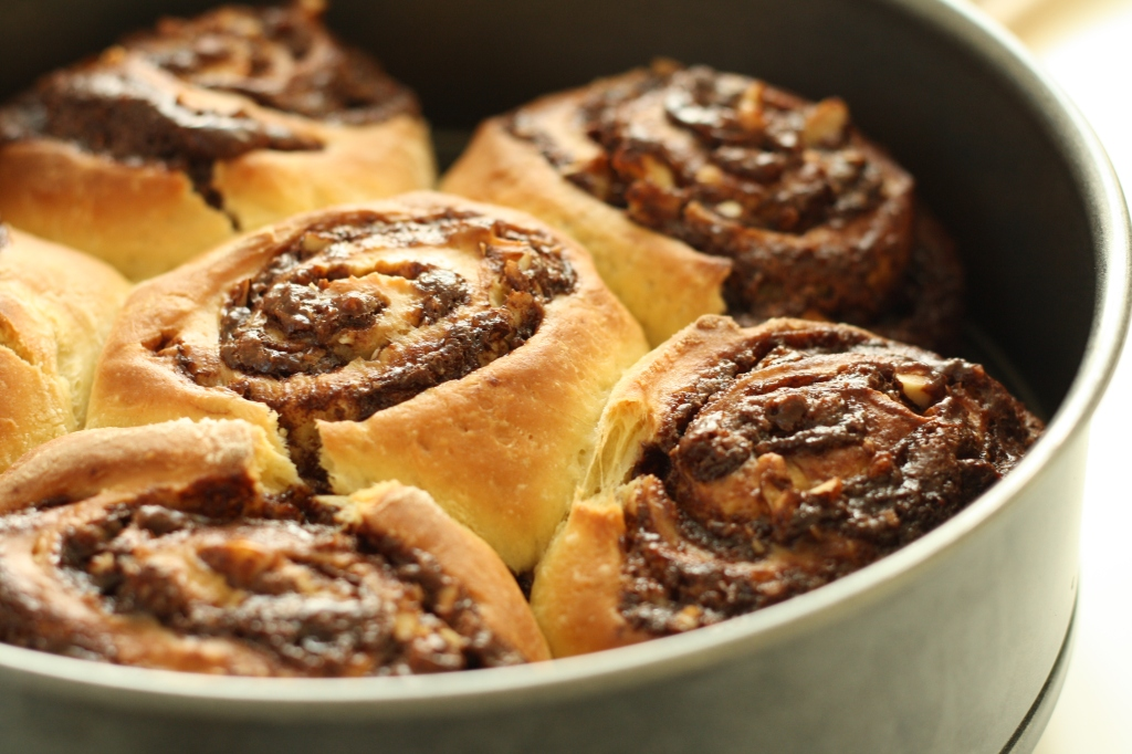 Chocolate Hazelnut Buns 9