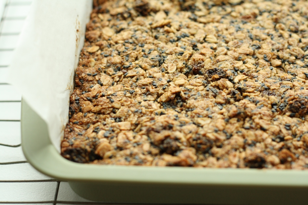 Ginger, chocolate flapjacks 2