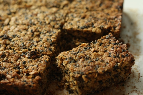 Ginger, chocolate flapjacks 7