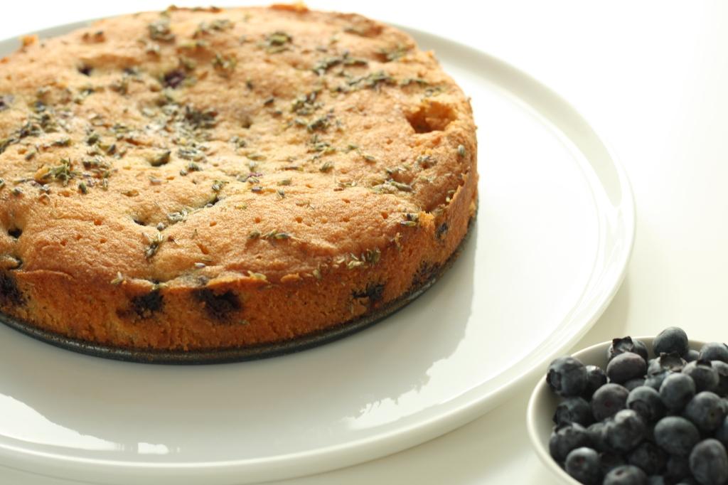 Gluten Free Blueberry Lavender Polenta Cake 2