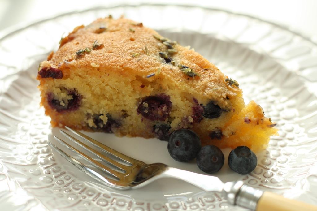 Orange Lavender Polenta Cake