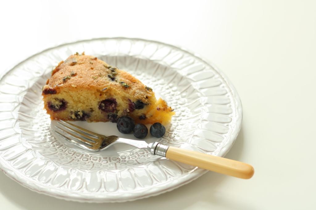 Gluten Free Blueberry Lavender Polenta Cake 5