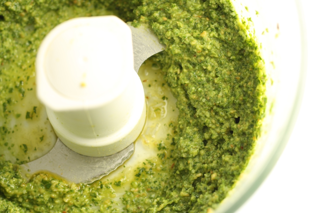 Kale pesto after