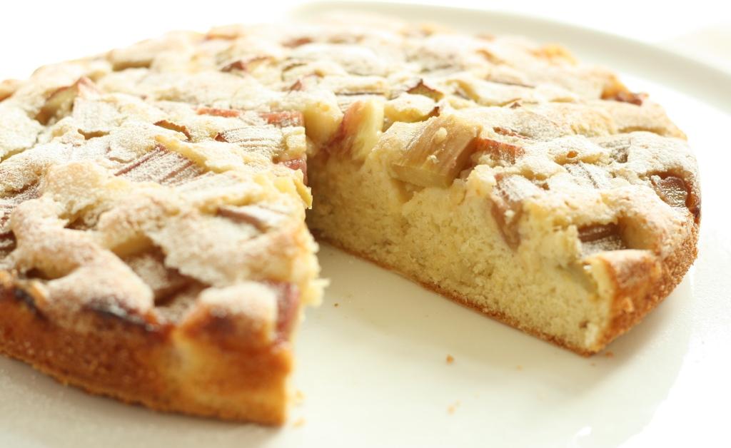 Rhubarb Cardamom Cake 7