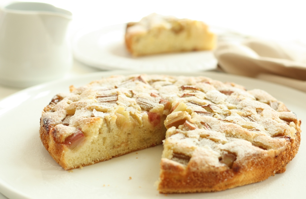 Rhubarb Cardamom Cake 9