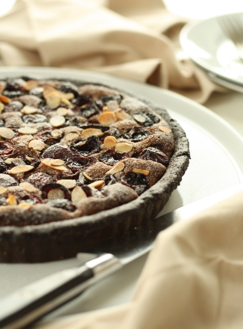 Cherry Chocolate Frangipane Tart