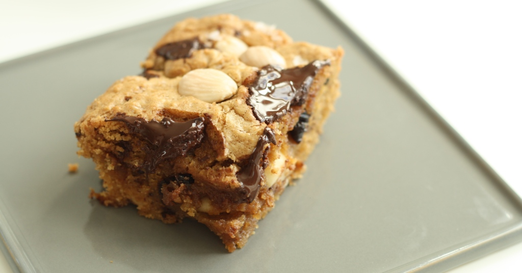 Marcona almond blondies 1