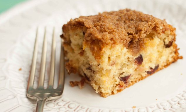 Dried Apricot And Cranberry Coffee Cake Recipe — Dishmaps