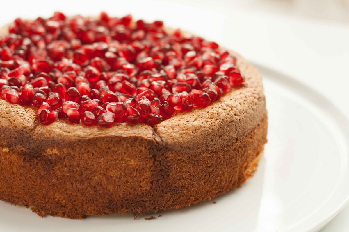 Gluten-Free Pomegranate Jewel Cake